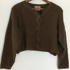 Eileen Fisher | Cropped Cardigan Sweater Small